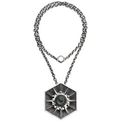 Elie Top Etoile Mystérieuse Necklace Hexa Silver Labradorite