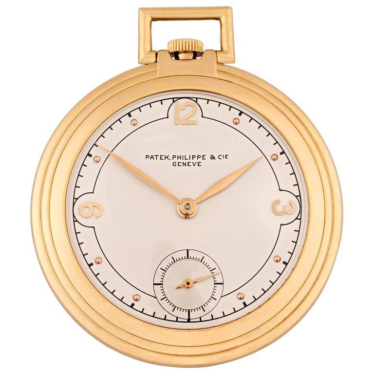 Art Deco Gold Pocket Watch by Patek Philippe
