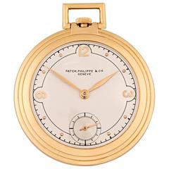 Art Deco Gold Pocket Watch by Patek Philippe