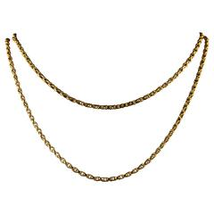 Antique Victorian Long Gold Guard Chain, circa 1900
