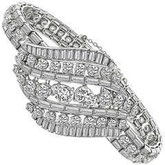 16 Carat Diamond Platinum Bracelet