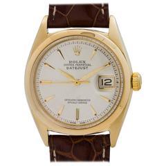Rolex Yellow Gold Datejust Self Winding Wristwatch Ref 1601, circa 1962