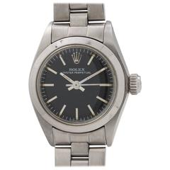 Rolex Ladies Stainless Steel Oyster Perpetual Self Winding Wristwatch circa 1976