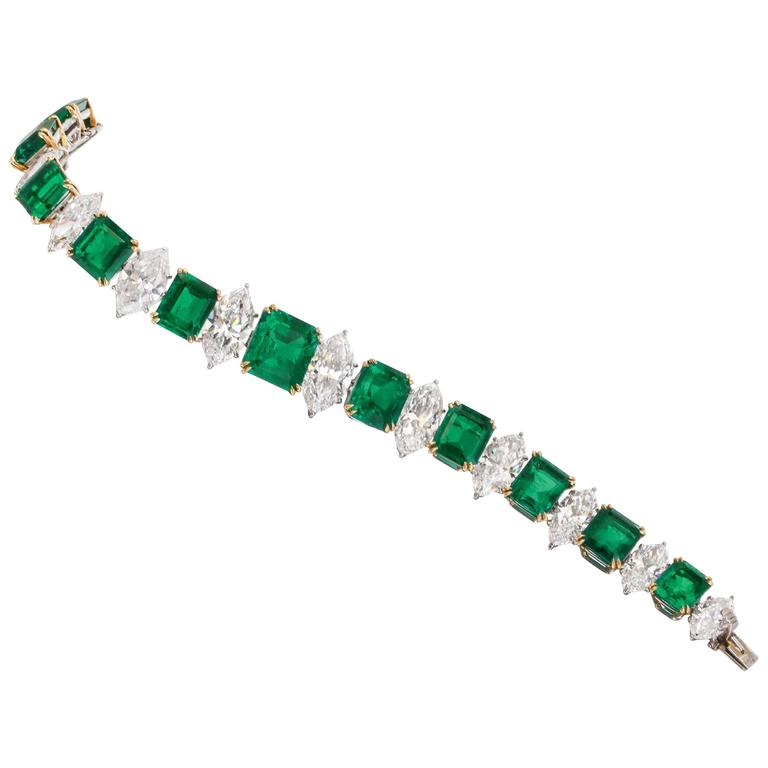 Well-liked Magnificent Harry Winston GIA Cert Diamond Colombian Emerald  OQ02