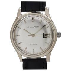 IWC Schaffhausen White Gold Date Automatic Wristwatch, circa 1964