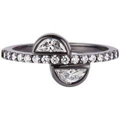 Cushla Whiting Half Moon Diamond Gold Ring