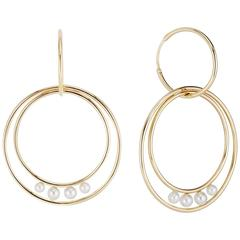 Cushla Whiting Planetary Pearl Gold Hoop Earrings