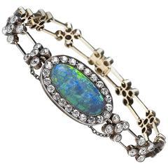 Antique Opal and Diamond Bracelet