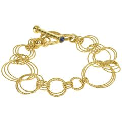 Roberto Coin Yellow Gold Chain Toggle Closure Bracelet