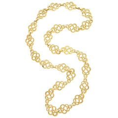 1960s Buccellati Gold Knot Chain Necklace