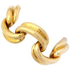 Drapery Swags Enamel Gold Bracelet