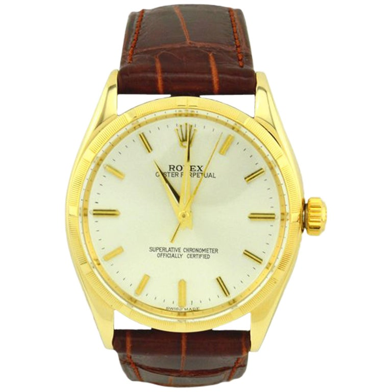 Rolex yellow gold Oyster Perpetual Wristwatch Ref 1003, circa 1966 For Sale