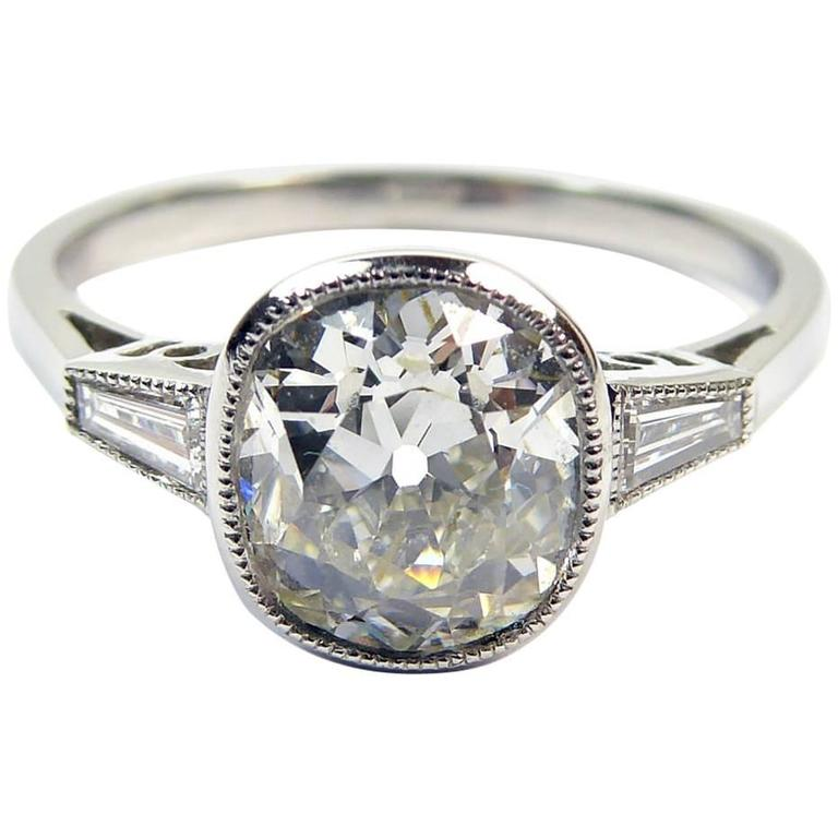 Antique Diamonds in Art Deco Engagement Ring Style Setting ...