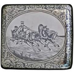 Fine Russian Silver Niello Box Case Moscow 1895 Gustav Gustavovich Klingert