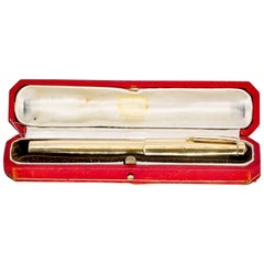 Cartier Art Deco Gold Fountain Pen