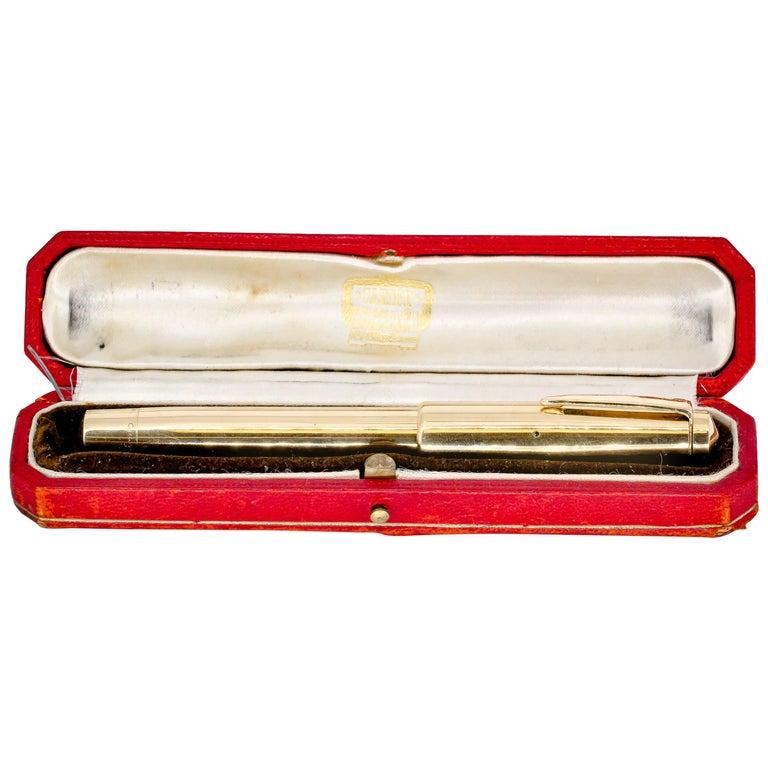 Cartier Art Deco Gold Fountain Pen