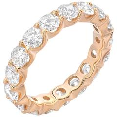 Boorma 18 Karat Yellow Gold 3.31 Carat VS 1 G Color Eternity Band