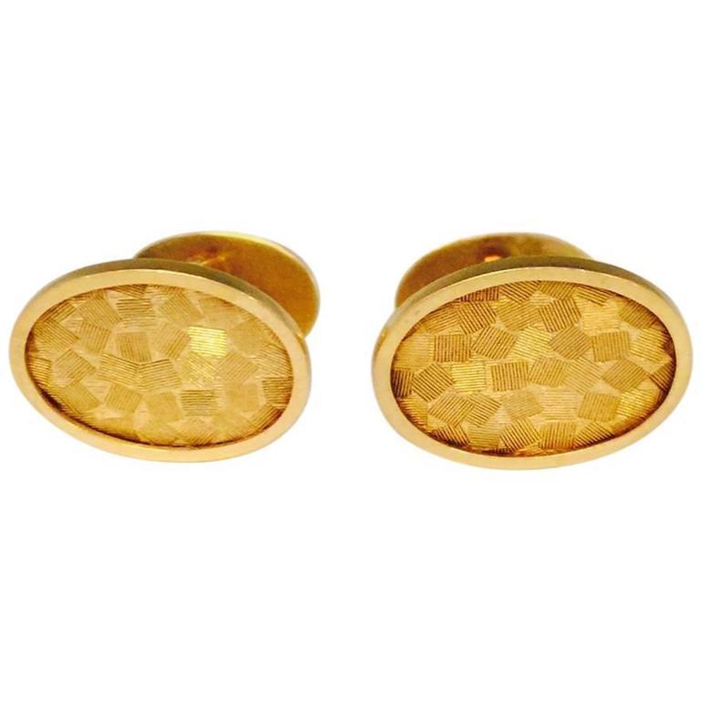 1960s Cartier Florentine Gold Cufflinks