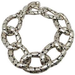 Stunning John Hardy Kali Collection Sterling Silver Link Bracelet
