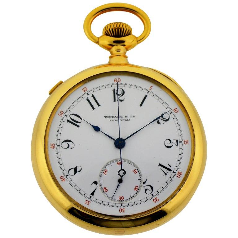 Patek Philippe Tiffany & Co. Rose Gold Split Seconds Chronograph Pocket Watch