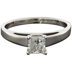 .52 Carat Princess Diamond White Gold Solitaire Engagement Ring