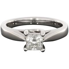 Ideal Princess Diamond Celebration Grand Certified Solitaire Engagement Ring