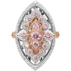 Award Winning Australian Argyle Pink Diamonds Chantilly Ring