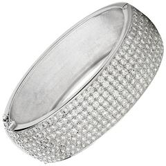 Pave Set Diamond Hinged Bangle
