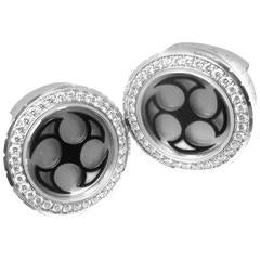 Harry Winston Ocean Diamond White Gold Cufflinks