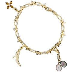Louis Vuitton Limited Edition Blossom Charm Bracelet with 3 LV Charms
