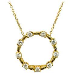 Roberto Coin Romantic Diamond Gold Necklace