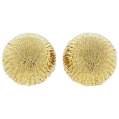 Tiffany & Co. Classic Gold Button Earrings