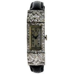 Tiffany & Co. Ladies Platinum Art Deco Manual Winding Dress Watch