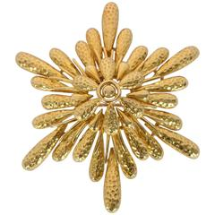 Tiffany & Co. Large Gold Pendant Brooch