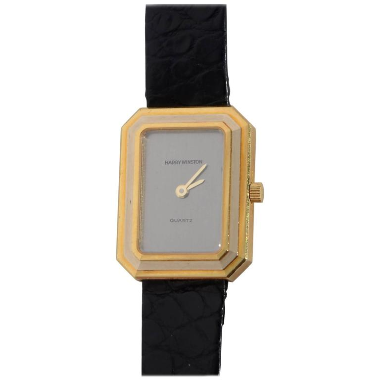 Harry Winston Ladies yellow and white gold quartz Wristwatch 1
