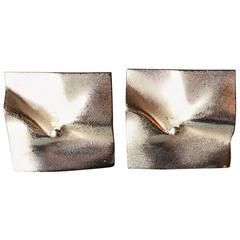 """Lapponia Sterling Silver Pair of """"Galactica"""" Earrings by Bjorn Wekstrom"""