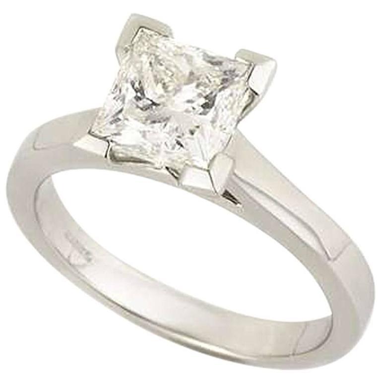 Princess Cut Diamond Ring 2.01 Carat GIA Certified