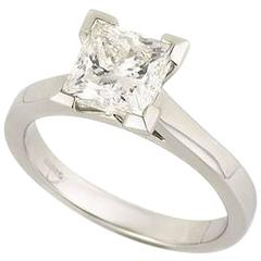 Princess Cut Diamond Ring 2.01 Carat GIA Certified
