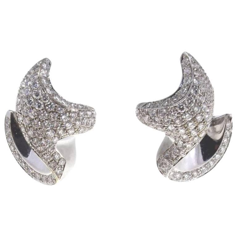 Luise Diamond White Gold Earrings