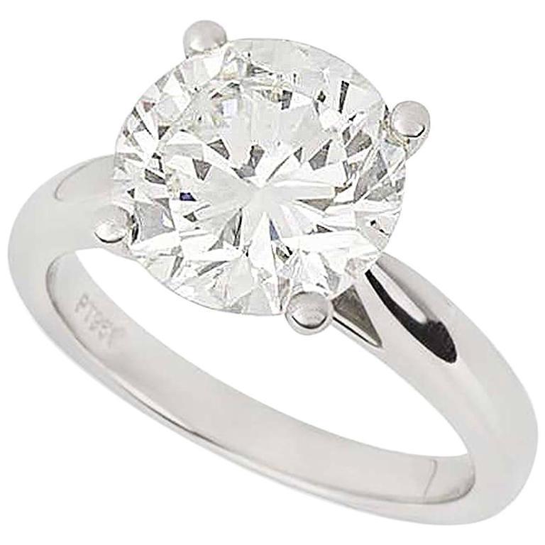 3.93 Carat GIA Certified Diamond Ring in Platinum