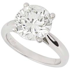 3.93 Carat GIA Certified Diamond Ring in Platinum