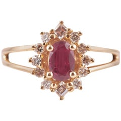 Ruby Diamond Yellow Gold Ring