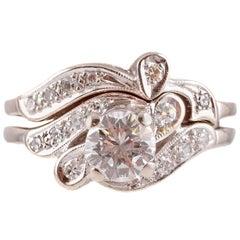 Keepsake 0.75 Carat Diamond Wedding Ring Set White Gold