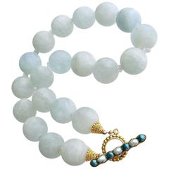 Matte Aquamarine Choker Necklace