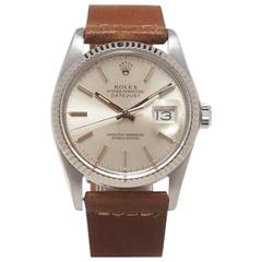 Rolex Stainless Steel Oyster Perpetual Datejust Automatic Wristwatch