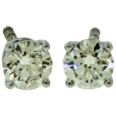 Tiffany & Co. Tiffany Solitaire Diamond Stud Platinum Earrings