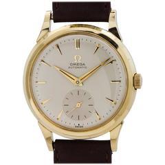 Omega Yellow Gold Shell Automatic Wristwatch, circa 1954