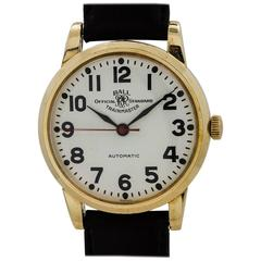 Ball Yellow Gold Filled Official Railroad Self Winding Wristwatch, circa 1960s