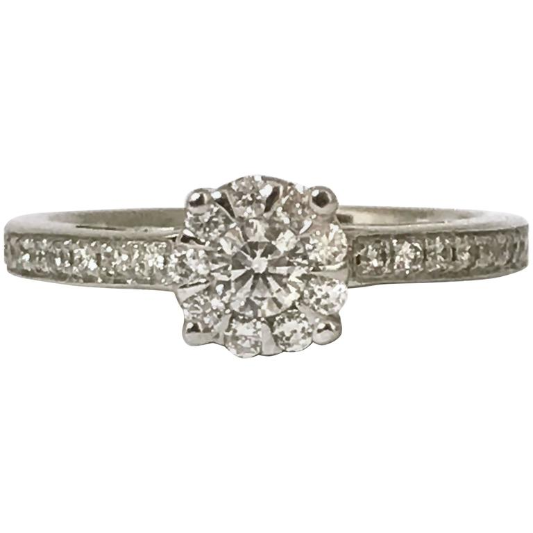 Diamond White Gold Bouquet Engagement Ring