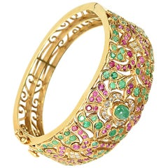 Ruby and Diamond Anglo-Indian Bangle, circa 1920s